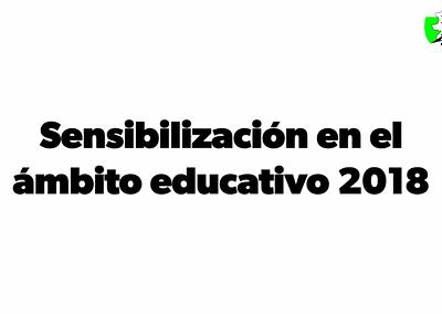 Videomemoria del Proyecto «Sensibilización en el ámbito educativo 2018»